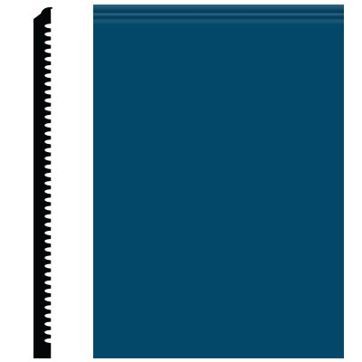 Roppe Pinnacle Plus Wall Base 65 Vertical Blue 187