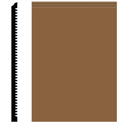 Roppe Pinnacle Plus Wall Base 65 Vertical Bronze 625