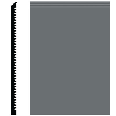 Roppe Pinnacle Plus Wall Base 65 Vertical Charcoal 123