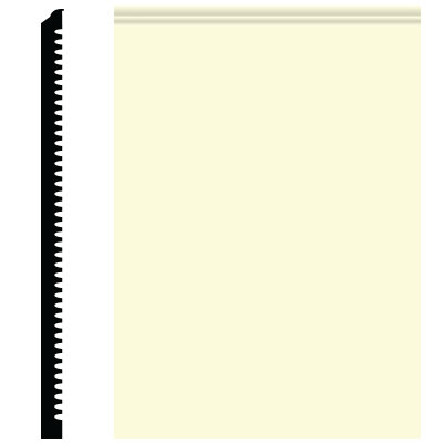 Roppe Pinnacle Plus Wall Base 65 Vertical Cream 615