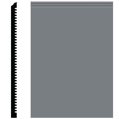 Roppe Pinnacle Plus Wall Base 65 Vertical Dark Gray 150