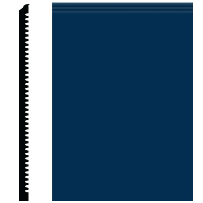 Roppe Pinnacle Plus Wall Base 65 Vertical Deep Navy 139