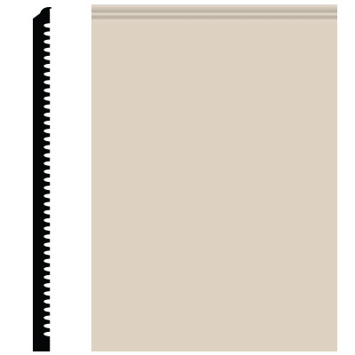 Roppe Pinnacle Plus Wall Base 65 Vertical Ivory 198