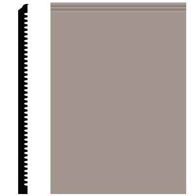 Roppe Pinnacle Plus Wall Base 65 Vertical Pewter 178