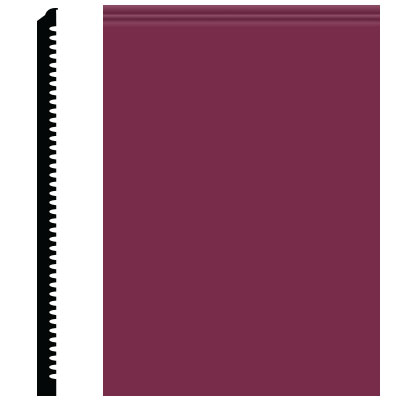 Roppe Pinnacle Plus Wall Base 65 Vertical Plum 620
