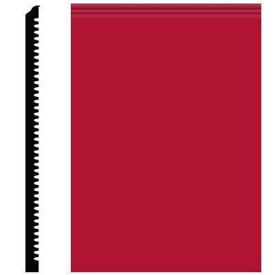 Roppe Pinnacle Plus Wall Base 65 Vertical Red 186
