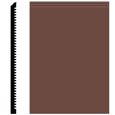 Roppe Pinnacle Plus Wall Base 65 Vertical Russet 181
