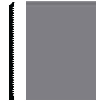Roppe Pinnacle Plus Wall Base 65 Vertical Steel Gray 148