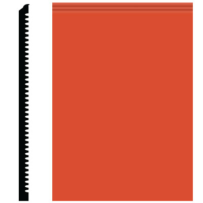 Roppe Pinnacle Plus Wall Base 65 Vertical Tangerine 626