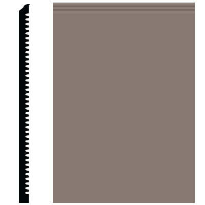 Roppe Pinnacle Plus Wall Base 65 Vertical Taupe 124