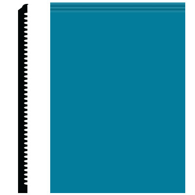 Roppe Pinnacle Plus Wall Base 65 Vertical Tropical Blue 606