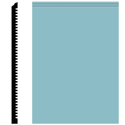 Roppe Pinnacle Plus Wall Base 65 Vertical Turquoise 146
