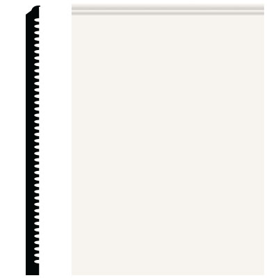 Roppe Pinnacle Plus Wall Base 65 Vertical White 170