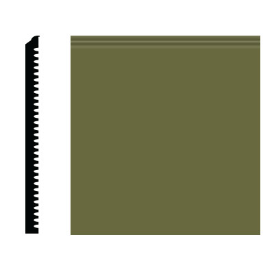 Roppe Pinnacle Plus Wall Base 75 Level Olive 634