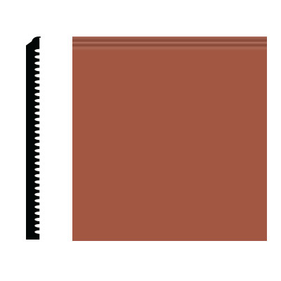 Roppe Pinnacle Plus Wall Base 75 Level Terracotta 617