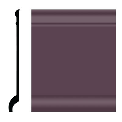 Roppe Pinnacle Plus Wall Base 90 Intrique Burgundy 185