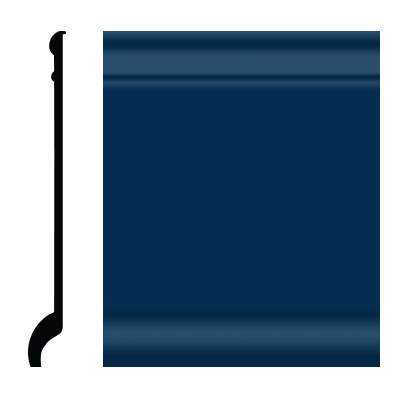 Roppe Pinnacle Plus Wall Base 90 Intrique Deep Navy 139
