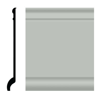 Roppe Pinnacle Plus Wall Base 90 Intrique Light Gray 195