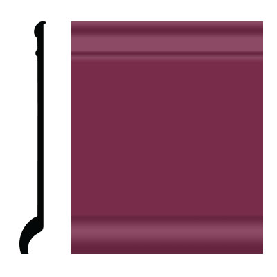 Roppe Pinnacle Plus Wall Base 90 Intrique Plum 620