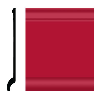 Roppe Pinnacle Plus Wall Base 90 Intrique Red 186