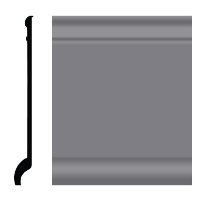 Roppe Pinnacle Plus Wall Base 90 Intrique Steel Gray 148