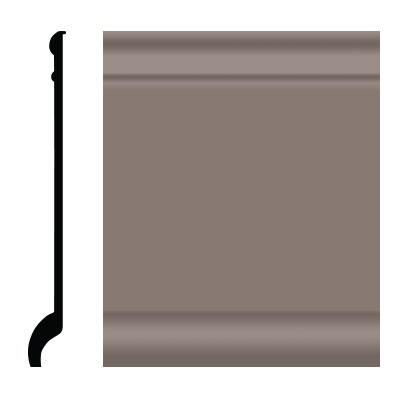 Roppe Pinnacle Plus Wall Base 90 Intrique Taupe 124