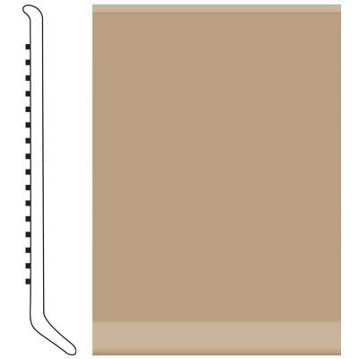 Roppe Pinnacle Rubber Wall Base 2 1/2 (Cove Base) Buckskin 130