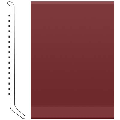 Roppe Pinnacle Rubber Wall Base 2 1/2 (Cove Base) Cinnabar 137