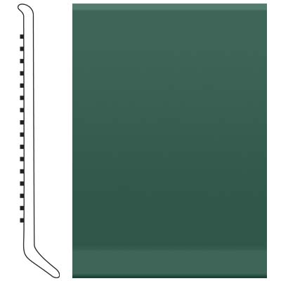 Roppe Pinnacle Rubber Wall Base 2 1/2 (Cove Base) Forest Green 160