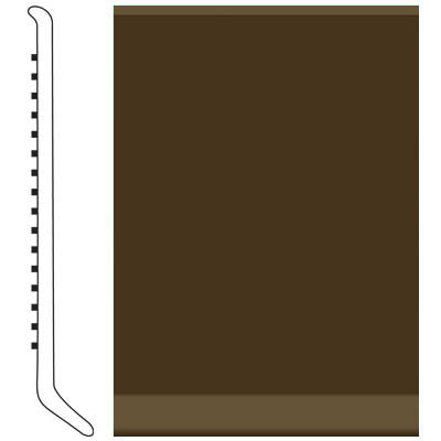 Roppe Pinnacle Rubber Wall Base 2 1/2 (Cove Base) Java 619