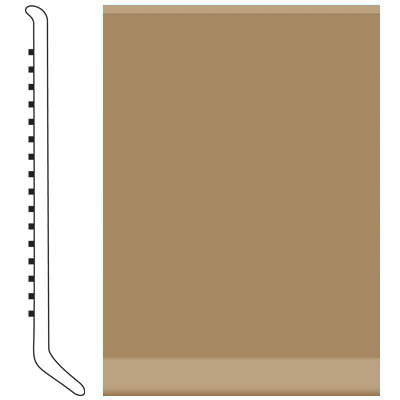 Roppe Pinnacle Rubber Wall Base 2 1/2 (Cove Base) Sahara 631