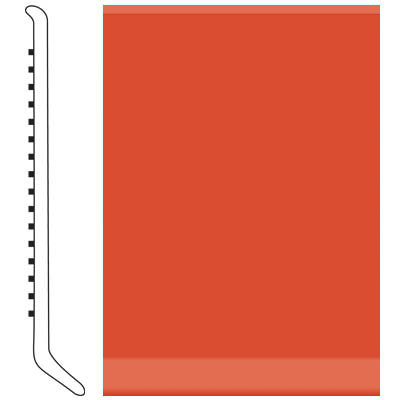Roppe Pinnacle Rubber Wall Base 2 1/2 (Cove Base) Tangerine 626