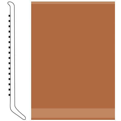 Roppe Pinnacle Rubber Wall Base 2 1/2 (Cove Base) Terracotta 617