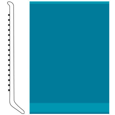 Roppe Pinnacle Rubber Wall Base 2 1/2 (Cove Base) Tropical Blue 606