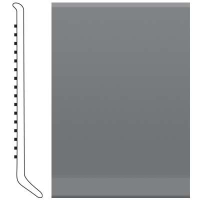 Roppe Pinnacle Rubber Wall Base 3 (Cove Base) Charcoal 123