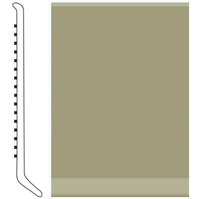 Roppe Pinnacle Rubber Wall Base 3 (Cove Base) Moss 116