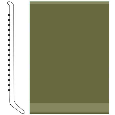 Roppe Pinnacle Rubber Wall Base 3 (Cove Base) Olive 634