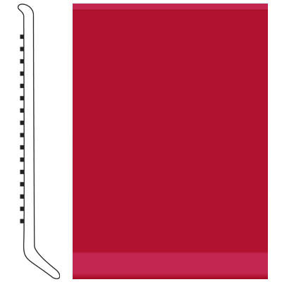 Roppe Pinnacle Rubber Wall Base 3 (Cove Base) Red 186