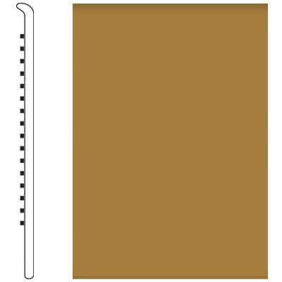 Roppe Pinnacle Rubber Wall Base 4 1/2 (No Toe Base) Brass 622