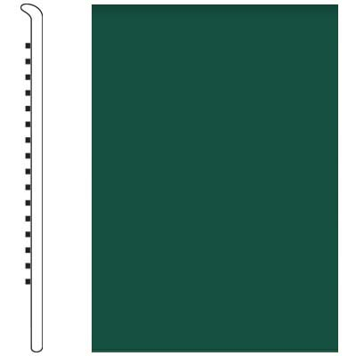 Roppe Pinnacle Rubber Wall Base 4 1/2 (No Toe Base) Forest Green 160
