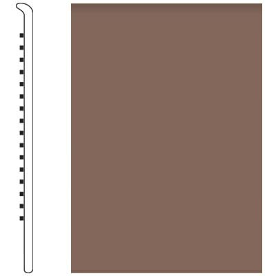 Roppe Pinnacle Rubber Wall Base 4 1/2 (No Toe Base) Toffee 182