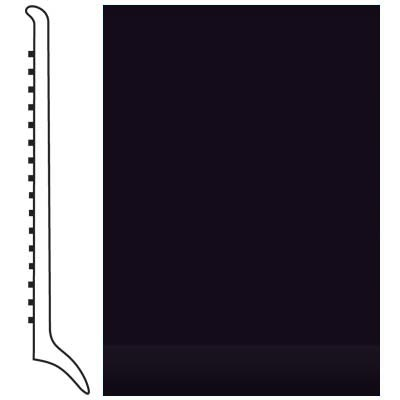 Roppe Pinnacle Rubber Wall Base 4 (Long Toe Base) Black 100