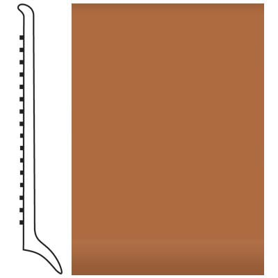 Roppe Pinnacle Rubber Wall Base 4 (Long Toe Base) Brick 188