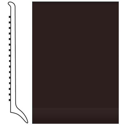 Roppe Pinnacle Rubber Wall Base 4 (Long Toe Base) Brown 110