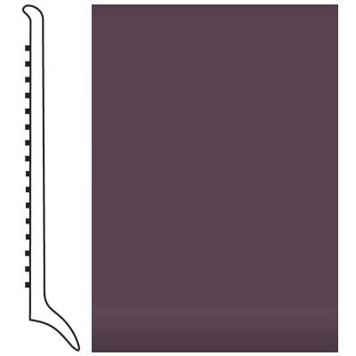 Roppe Pinnacle Rubber Wall Base 4 (Long Toe Base) Burgundy 185