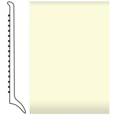 Roppe Pinnacle Rubber Wall Base 4 (Long Toe Base) Cream 615
