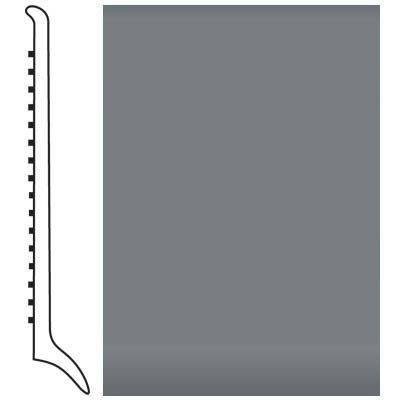 Roppe Pinnacle Rubber Wall Base 4 (Long Toe Base) Dark Gray 150