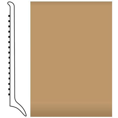 Roppe Pinnacle Rubber Wall Base 4 (Long Toe Base) Flax 632