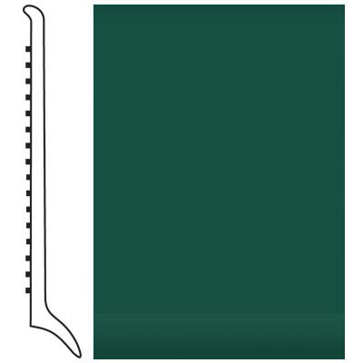 Roppe Pinnacle Rubber Wall Base 4 (Long Toe Base) Forest Green 160