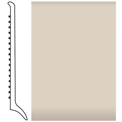 Roppe Pinnacle Rubber Wall Base 4 (Long Toe Base) Ivory 198
